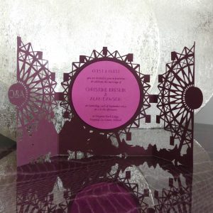 Christine & Alan's - Laser Cut Wedding Invitation